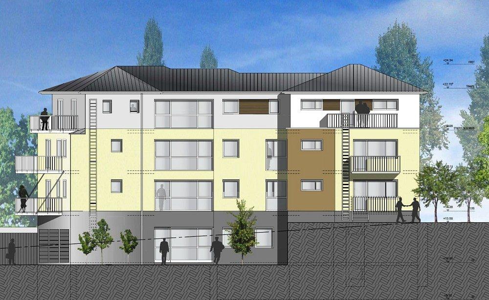Winkeler Strasse Plan Seitenansicht Aufriss für Umbau