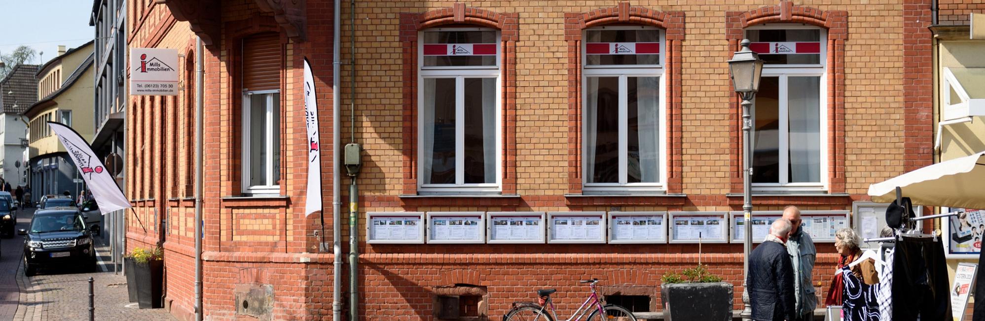 Mills Immobilien Geschäftsstelle in Eltville Rheingau von außen