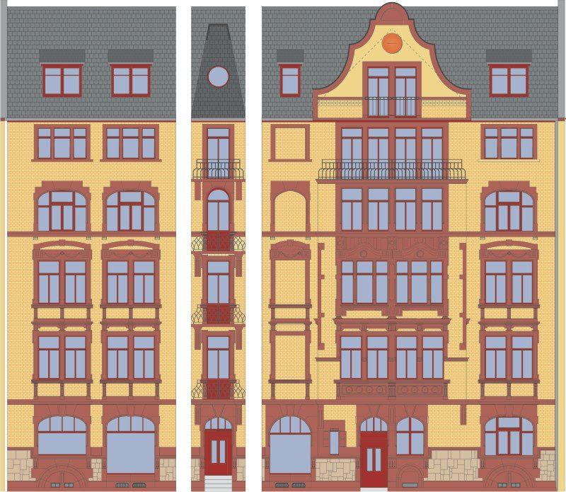 Neckarstrasse 1 Aufriss