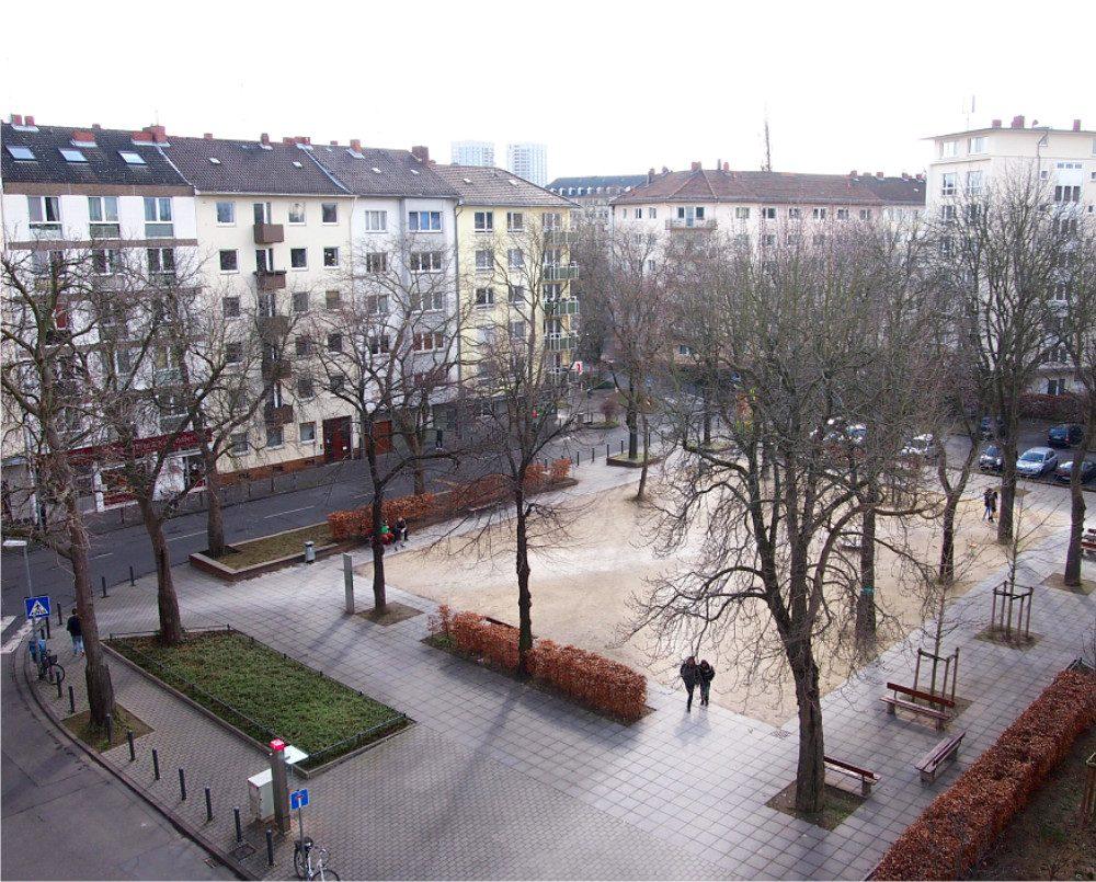 Blick auf Neckarstrasse vom Sömmerringplatz