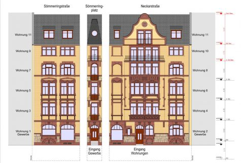 Domizil Sömmeringplatz Penthouse mit Aufzug und Denkmalabschreibung, 55118 Mainz, Penthousewohnung