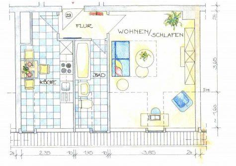 *Gute Kapitalanlage* Charmantes, helles Appartement in der Innenstadt von Frankfurt, 60316 Frankfurt am Main, Wohnung
